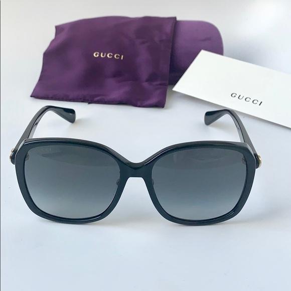 3663a01ee59 Gucci Women Sunglasses GG0371SK-001 Black   Grey